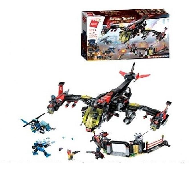 Купить Конструктор Enlighten Brick (Qman) Самолет, с фигурками и аксессуарами, 1013 деталей,