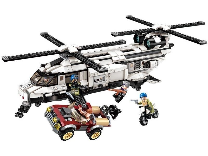Конструктор Enlighten Brick (Qman) Военный вертолет, с фигурками, 648 деталей,  - купить со скидкой