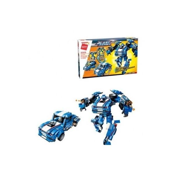 Купить Конструктор Enlighten Brick (Qman) Робот-машина, с фигуркой, 815 деталей,