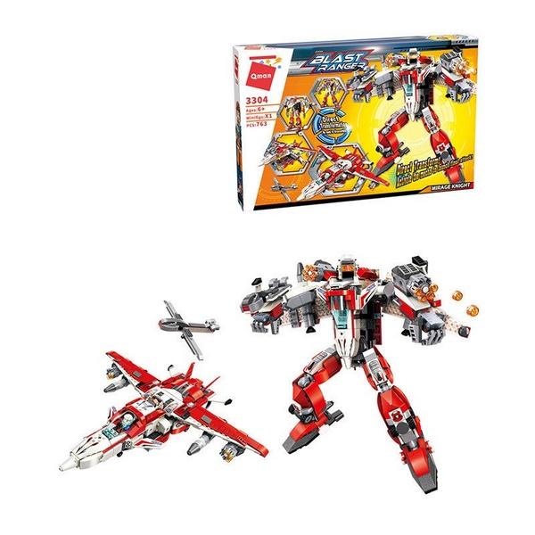 Купить Конструктор Enlighten Brick (Qman) Робот-самолет, с фигуркой, 763 детали,