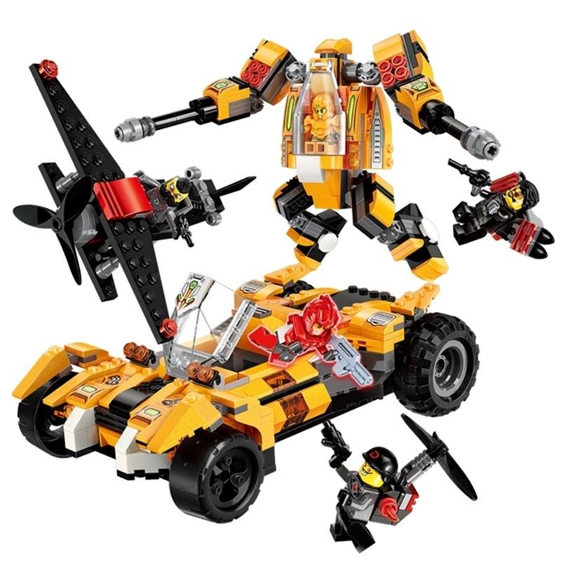Купить Конструктор Enlighten Brick (Qman) Робот-машина, с фигурками, 622 детали,