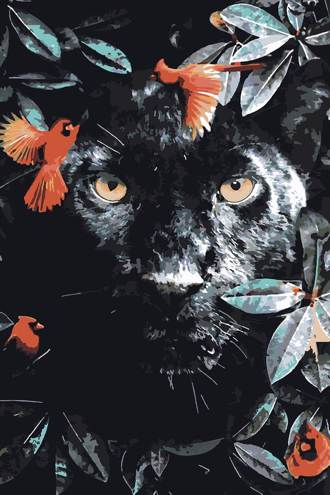 Картина по номерам Красиво Красим Дикая пантера, 50 х 80 см