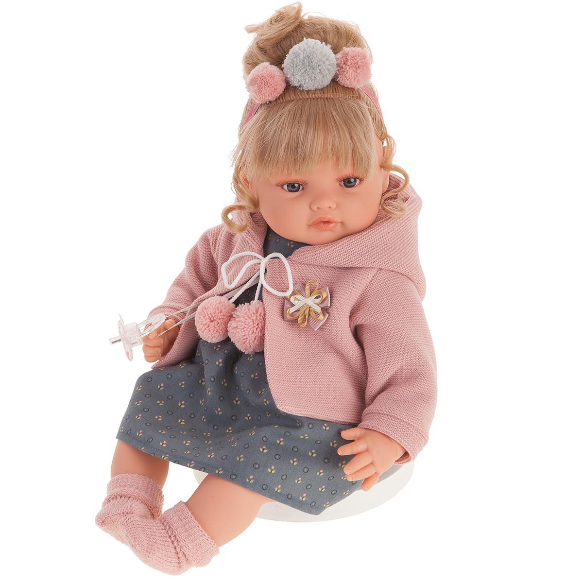 1673 Кукла Пилар в розовом, озвученная (плач),