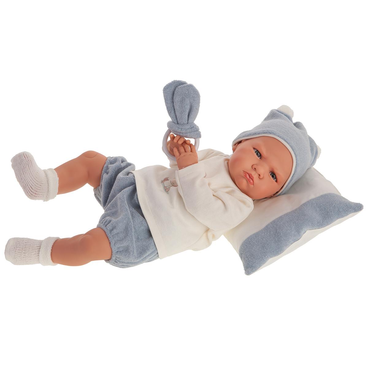Купить 1955 Кукла Изабель в голубом, озвученная (детский лепет), 52 см, Antonio Juan,