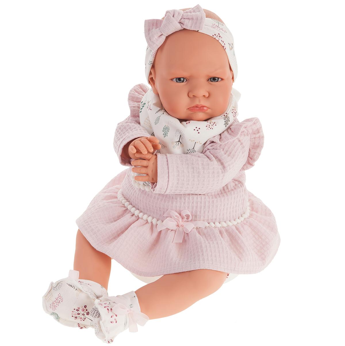 Купить 1957 Кукла Анна в розовом, озвученная (детский лепет), 52 см, Antonio Juan,