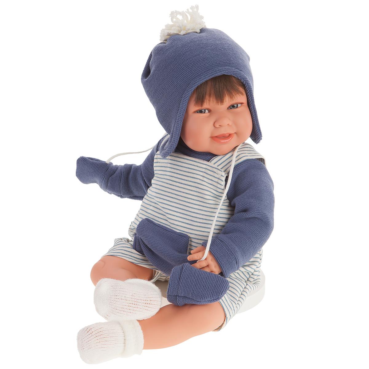 Купить 2005 Кукла Кристиан в голубом озвученная (мама, папа, смех), 52 см, Antonio Juan,