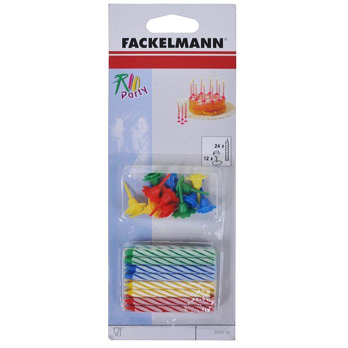Свечи для торта FACKELMANN 24 шт.