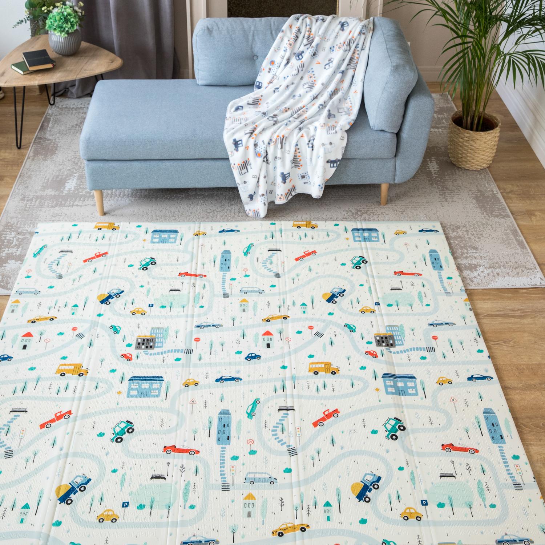 Купить Детский игровой развивающий коврик Baby Nice двусторонний складной складной 180х200х1 см,