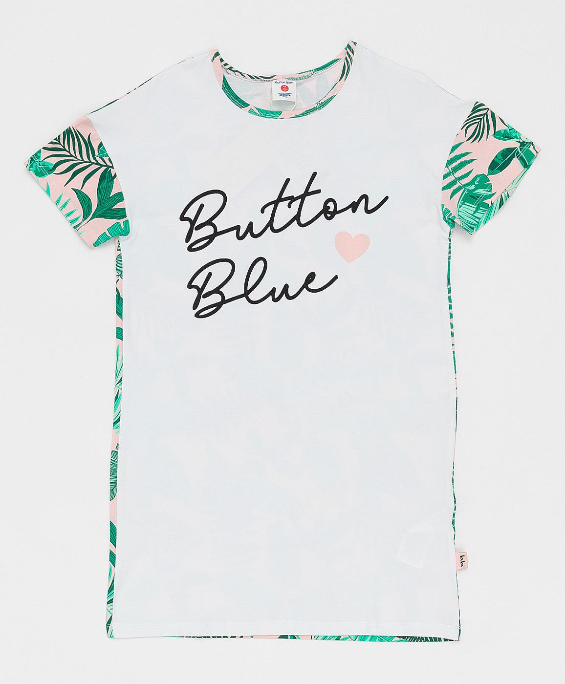 Купить Детская ночная сорочка Button Blue белая 121BBGJU98020217 размер 152-158,