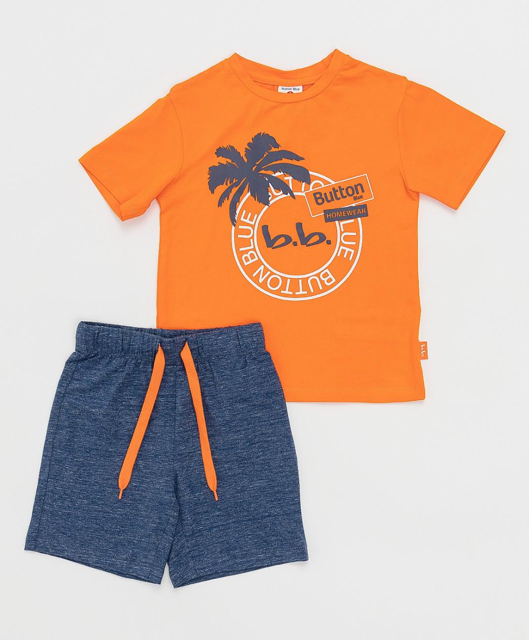 Купить Детская пижама Button Blue оранжевая 121BBBMU97026110 размер 98-104,