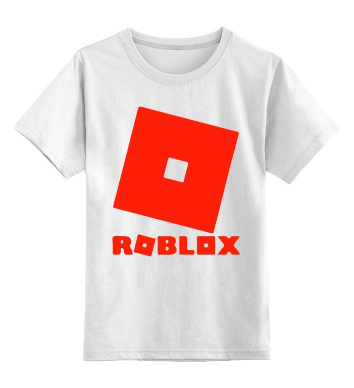 Купить 0000003363430, Детская футболка Printio Roblox цв.белый р.128,
