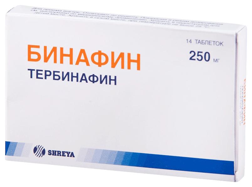 Бинафин тб 250 мг №14
