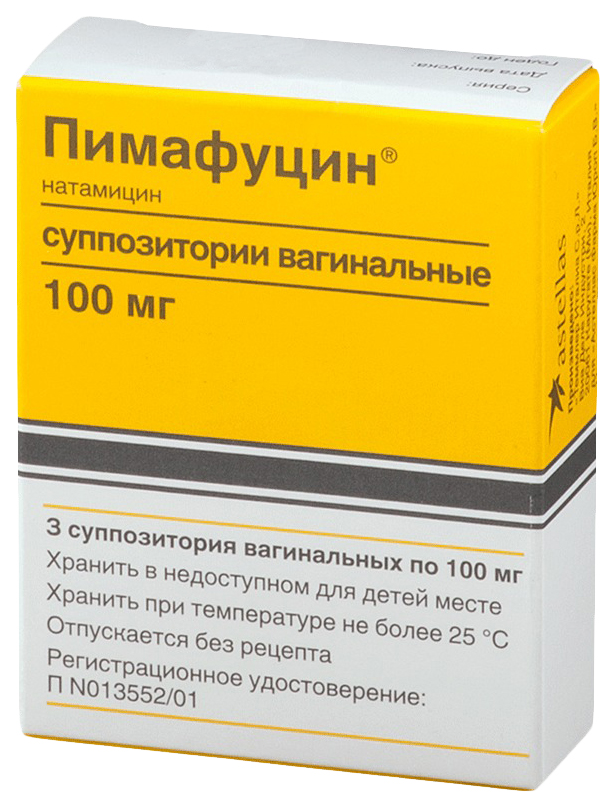 Купить Пимафуцин супп.вагин.100 мг №3, Leo Pharma