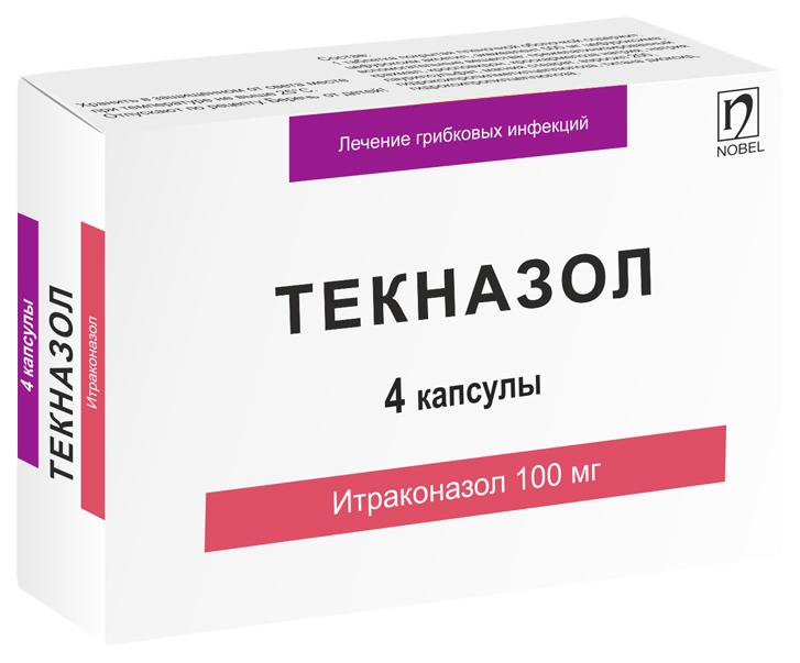 Текназол капсулы 100 мг №4