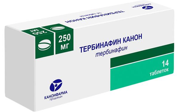Купить Тербинафин таблетки 250 мг №14, Канонфарма продакшн ЗАО