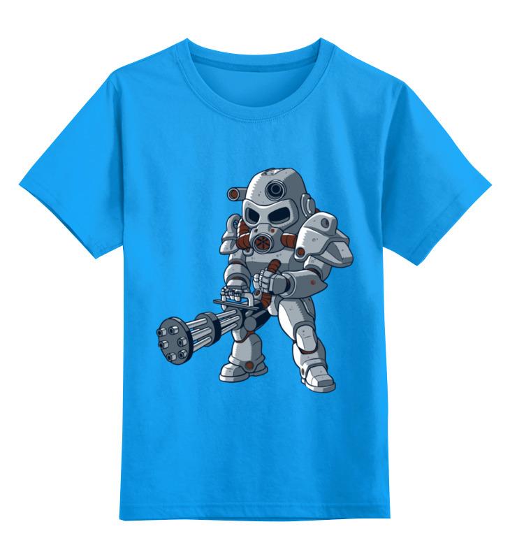 Купить 0000003391396, Детская футболка Printio Фоллуат цв.голубой р.128,