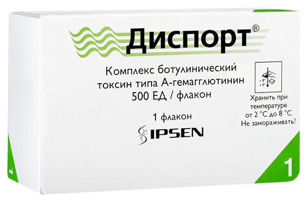 Диспорт лиофилизат для р-ра для ин. 500 ЕД флакон №1