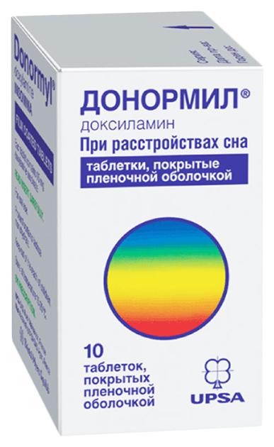 Донормил таблетки, покрытые пленочной оболочкой 15 мг №10