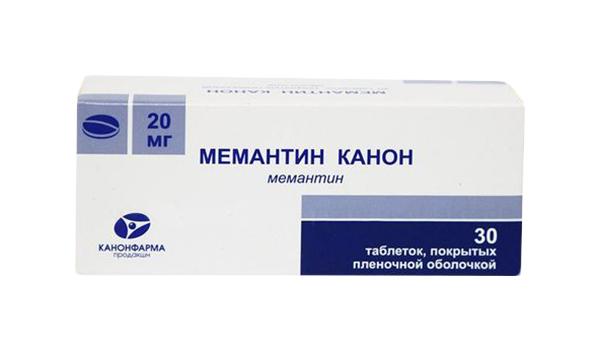 Мемантин Канон таблетки, покрытые пленочной оболочкой 20 мг №30