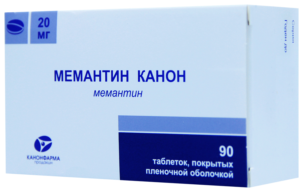 Мемантин Канон таблетки, покрытые пленочной оболочкой 20 мг 90 шт.