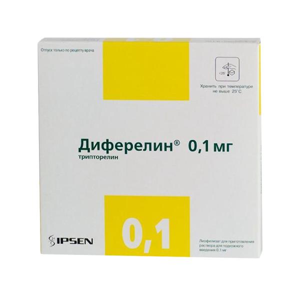 Диферелин лиофилизат для приг. раствора для п/к введ.фл.0,1 мг №7