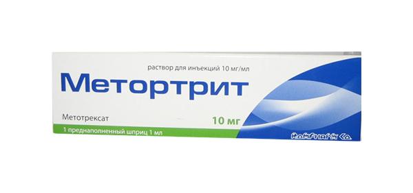 Метортрит раствор для инъекций 10 мг/мл шприц 1 мл с иглой №1