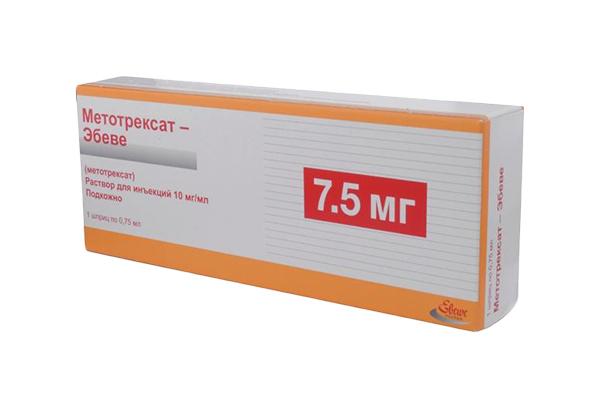 Метотрексат-Эбеве раствор для и 10 мг/мл шприц 0,75 мл №1
