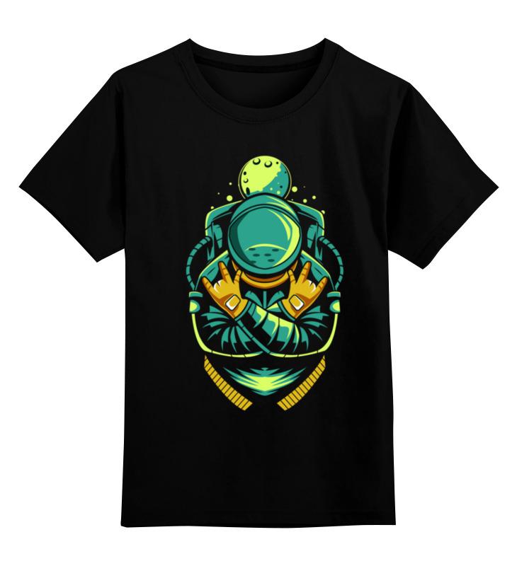 Детская футболка Printio Космонавт цв.черный р.116 0000003318244 по цене 990
