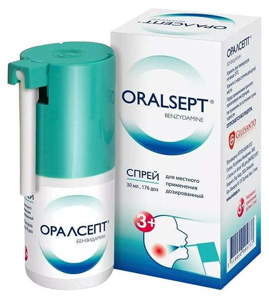 Оралсепт спрей для мест.прим. доз. 0,255 мг/доза 176 доз 30 мл