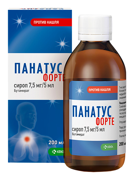Панатус Форте сироп 7,5 мг/5 мл 200 мл флакон №1