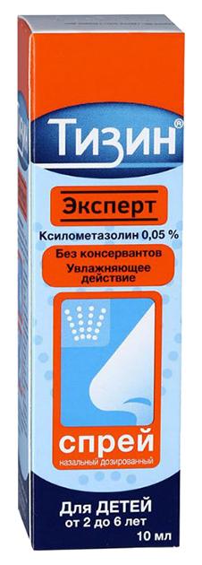 Тизин Эксперт/Ксило Био спрей назальный доз.фл.с доз.0,05% 10 мл №1