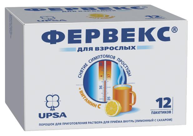 Купить Фервекс пор. для приг. раствора для приема внутрь Лимон №12 с сахаром, UPSA
