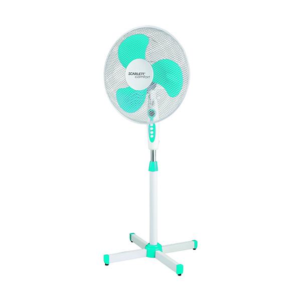 Вентилятор напольный Scarlett SC SF111B12 white/blue