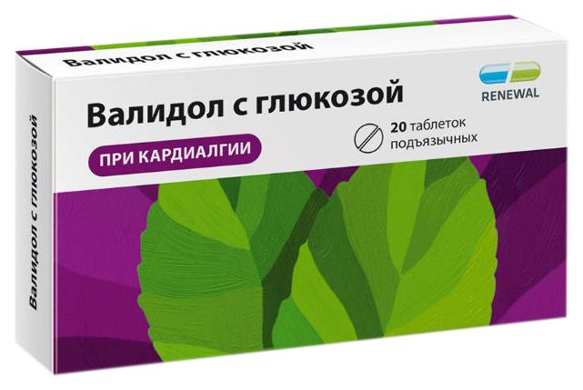 Купить Валидол с глюкозой таблетки 60 мг №20 Renewal