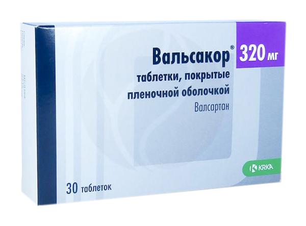 Вальсакор таблетки, покрытые пленочной оболочкой 320