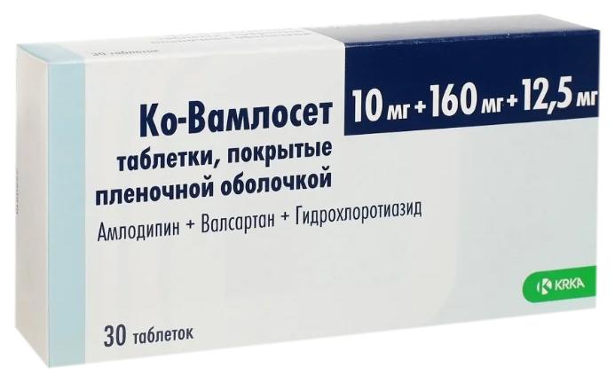 Ко Вамлосет таблетки, покрытые пленочной оболочкой