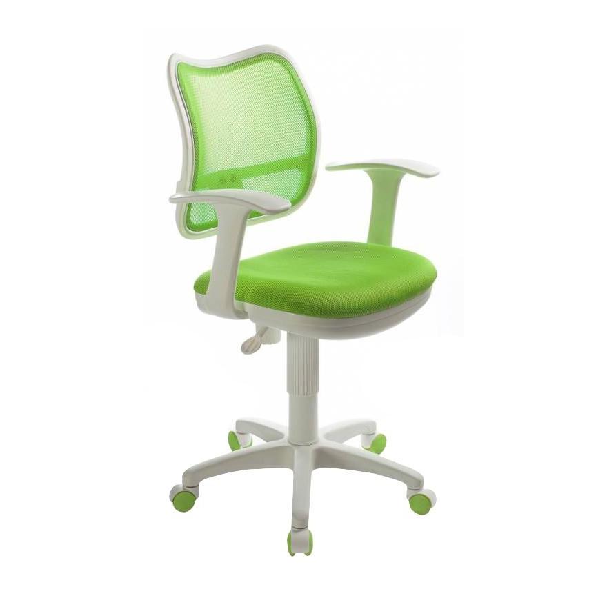 Компьютерное кресло Бюрократ CH W797/SD/TW 18, белый/салатовый