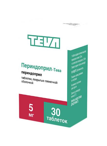 Купить Периндоприл-Тева таблетки, покрытые пленочной оболочкой 5 мг №30, Teva