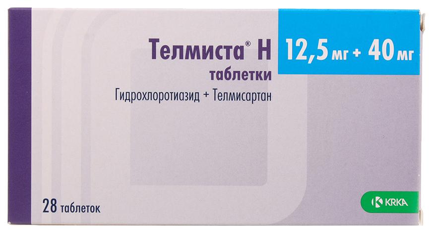 Купить Телмиста Н таблетки 12, 5 мг+40 мг №28, KRKA