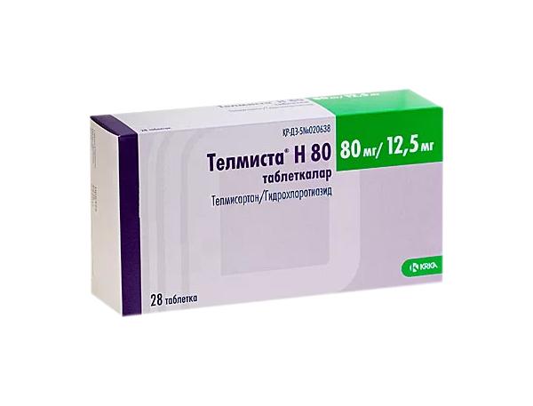 Телмиста Н таблетки 12,5 мг+80 мг №28