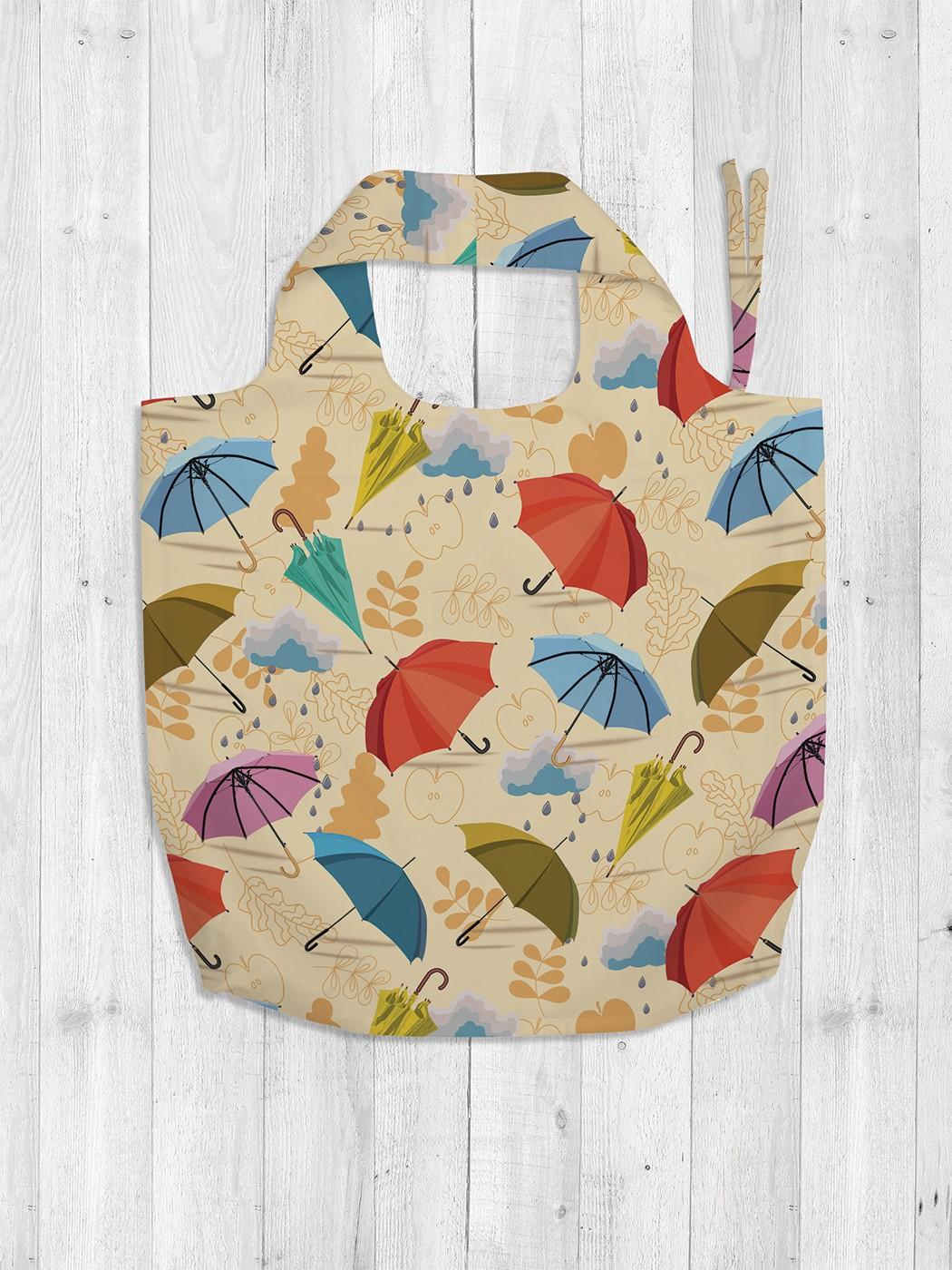 Авоська женская JoyArty Летящие зонты