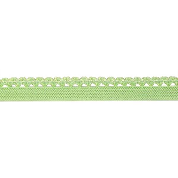 Тесьма эластичная декоративная, цвет: светло-зеленый, 10 мм х 25 м, арт. 1542