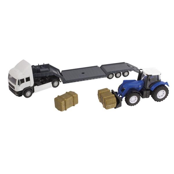 Фермерский грузовой автомобиль с трактором Teamsterz, синий