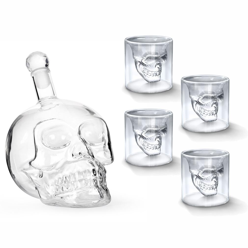 Декантер для виски Adam Franklin Череп стакан для виски 4 шт, графин - 700 мл, AF-GRAF-08
