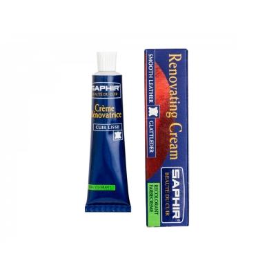 Восстановитель кожи SAPHIR Creme RENOVATRICE (bleu jean)