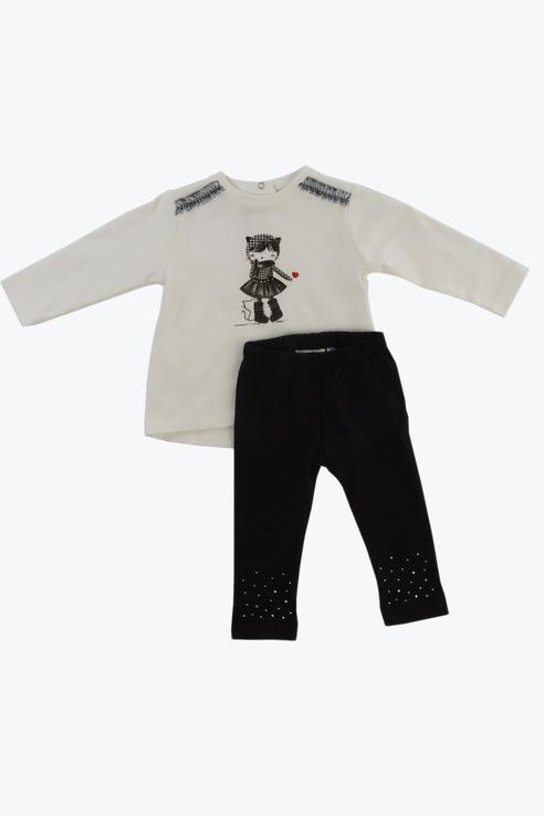 Купить 3.V738.00, брюки для девочки Sarabanda, цв.белый, р-р 74,