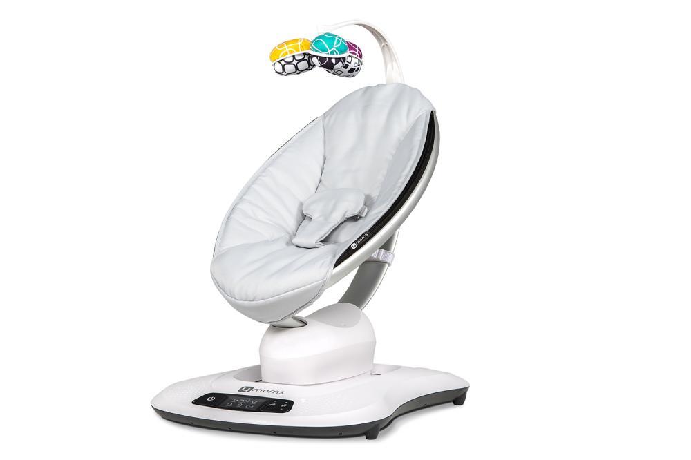 Купить Кресло-качалка 4moms mamaroo 4.0 серебристая,