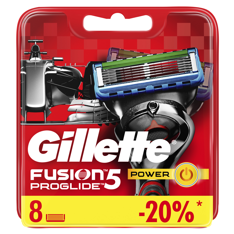 Сменные кассеты Gillette Fusion5 ProGlide Power