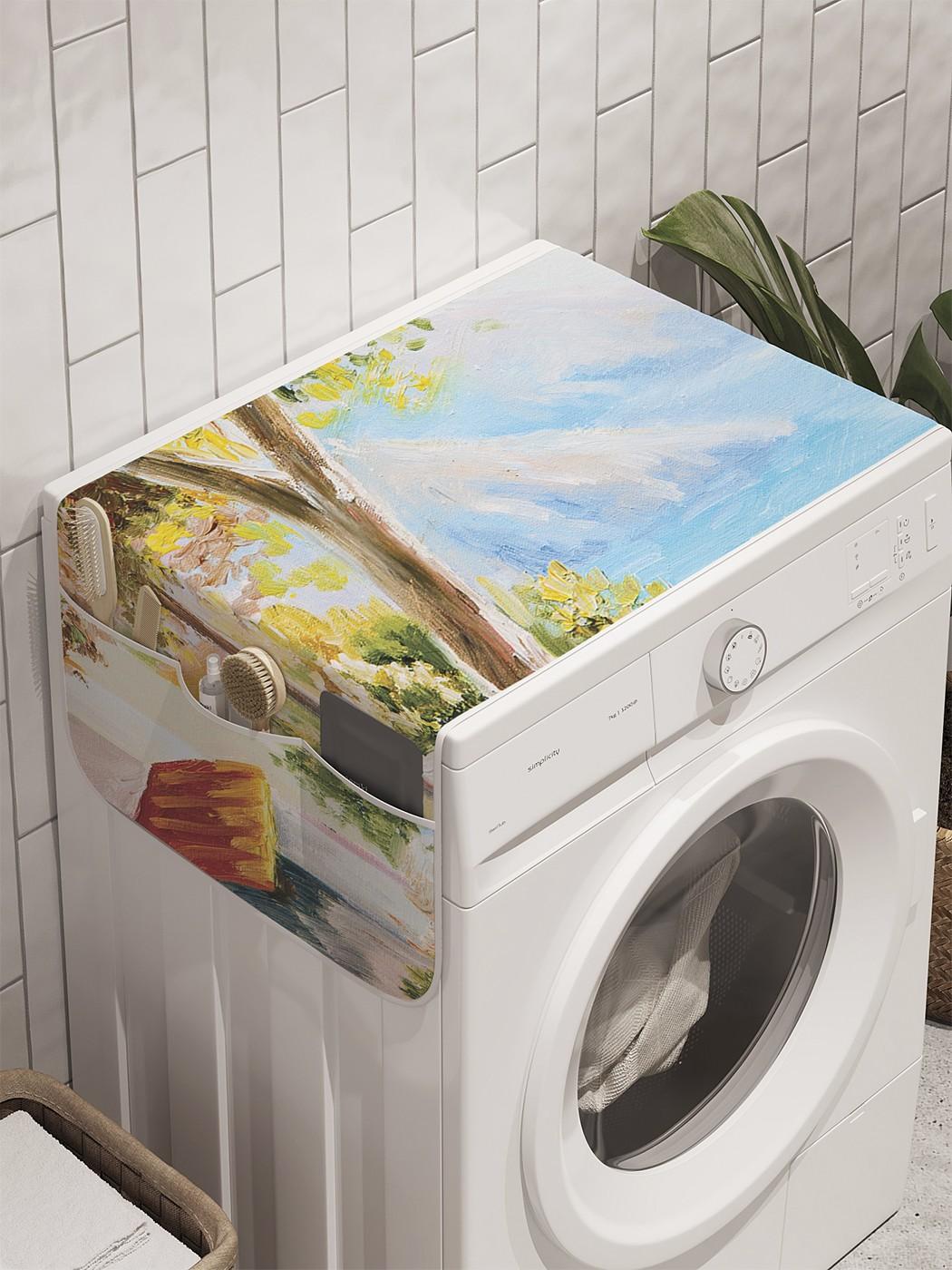 """Органайзер """"Дача у моря"""" на стиральную машину, 45x120 см"""