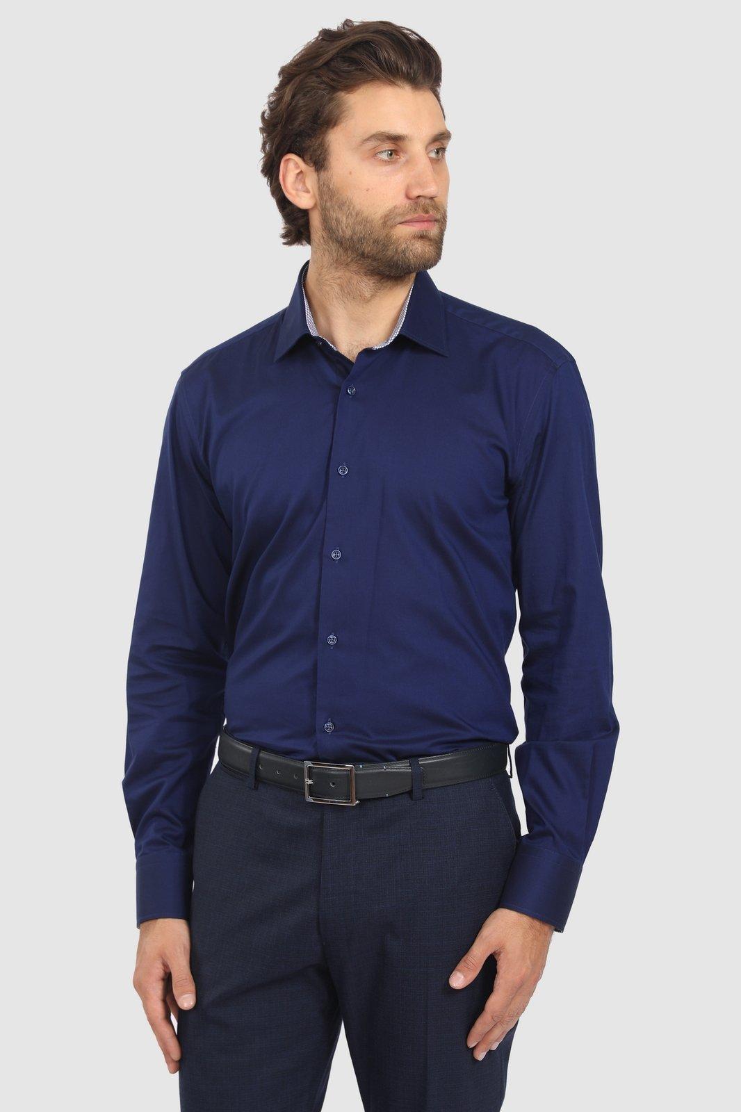 Рубашка мужская Kanzler 19W-SBL06SLSN/03 синяя 38/62